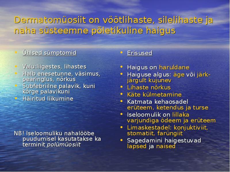 turse uhiste haigustega
